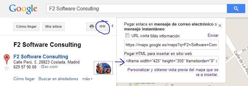 Paso 3 Poner un mapa de Google en mi web