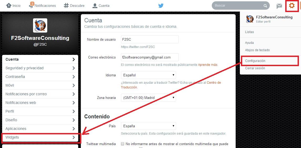 widget Twitter 1