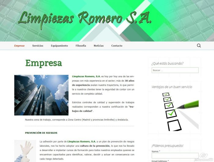 2015-12-29_13-56_Pantallazo web_Limpiezas Romero 1