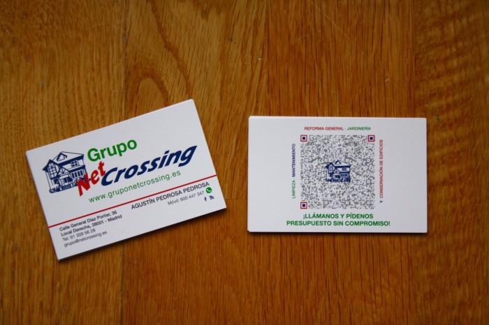 Fotografías de tarjetas de visita Grupo Netcrossing